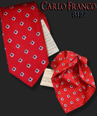 Red w/ Navy or Black on White Squares