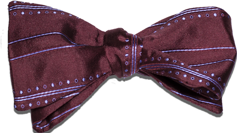 Siracusa - Wine and Light Blue Silk Bow Tie