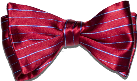 Sortino - Red with Blue and White Silk Bow Tie