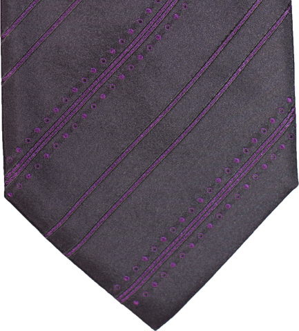 Siracusa - Black and Magenta Silk