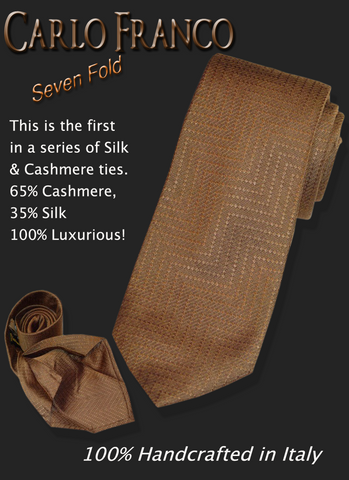 Carlo Franco Taupe Cashmere Silk Blend