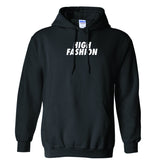 """HIGH FASHION"" PULL OVER HOODIE (BLACK)"