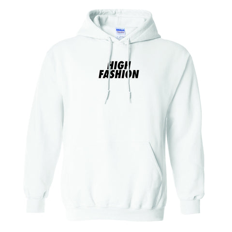"""HIGH FASHION"" PULL OVER HOODIE (WHITE)"
