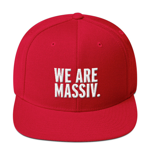"""WE ARE MASSIV."" STACKED LOGO SNAP BACK"