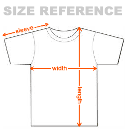 t-shirt size diagram