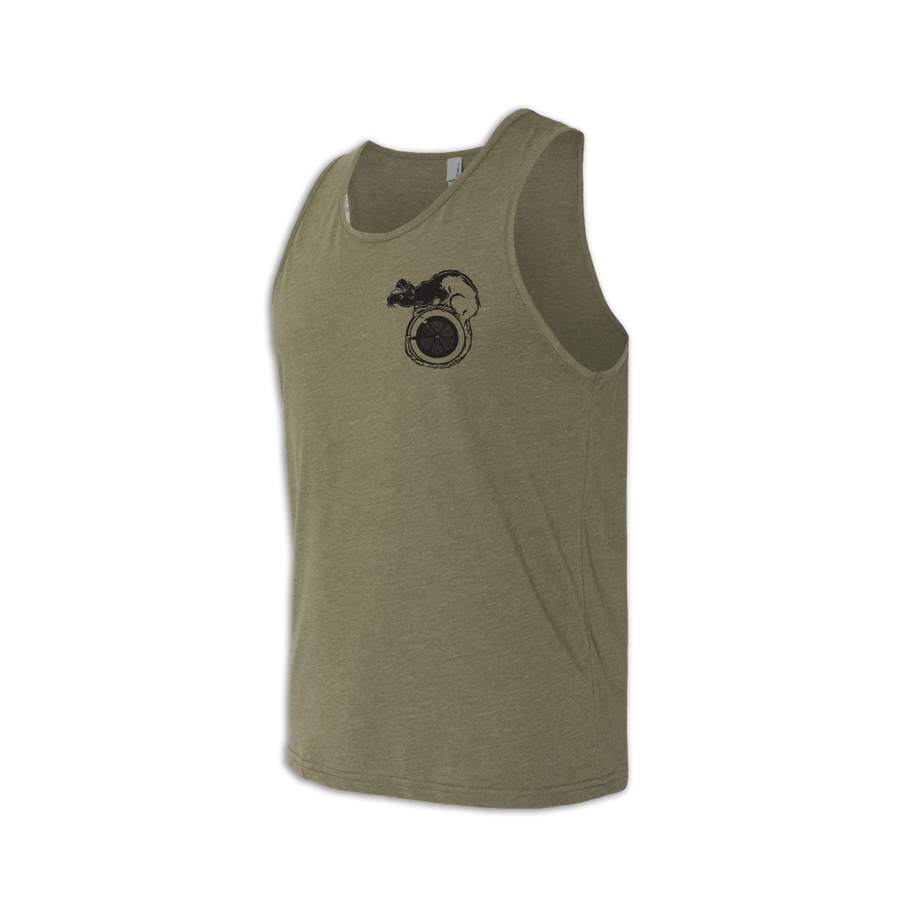 Front side of Erg Rats lightweight and moisture-wicking premium blend training tank at ridebackwards.com