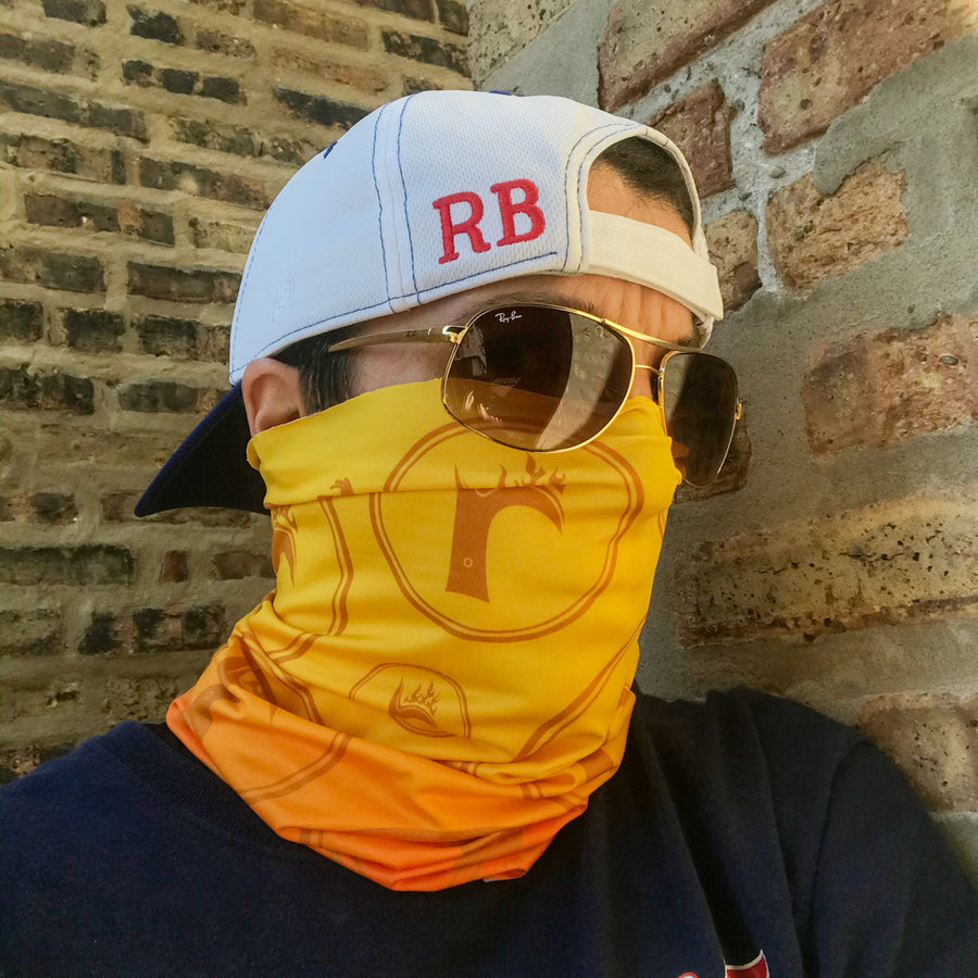 RB Flame Ultra Band neck gaiter, lightweight and moisture wicking performance fabric at ridebackwards.com