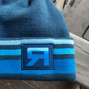 RB Flow Knit Beanie detail - ridebackwards.com
