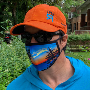 High Vis Rowing Cap - HVS Elite Cap, rowing and sculling lightweight and moisture-wicking cap on rower - ridebackwards.com