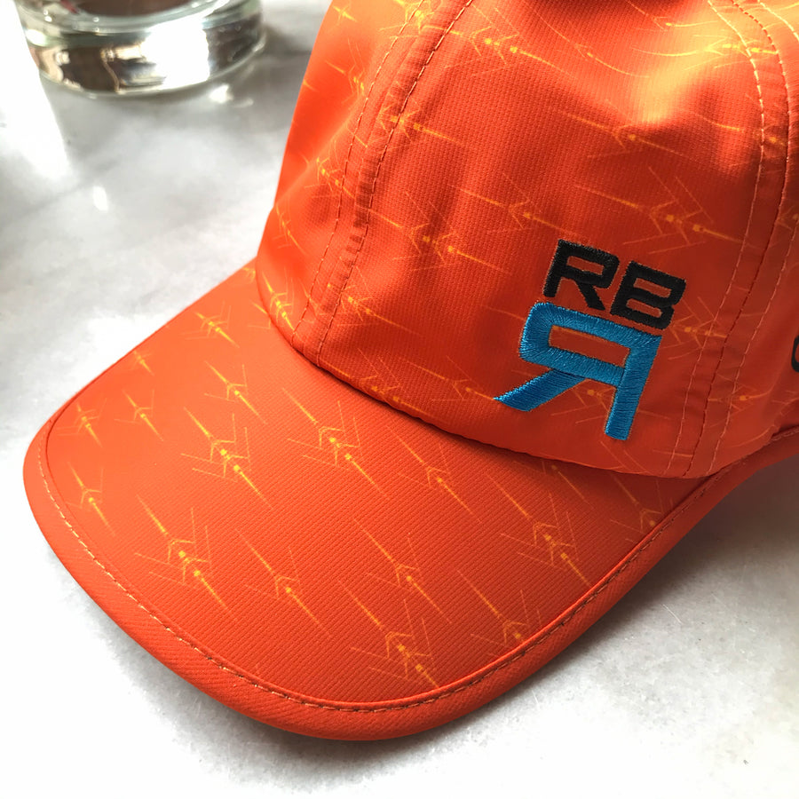 High Vis Rowing Cap - HVS Elite Cap, rowing and sculling lightweight and moisture-wicking cap - ridebackwards.com