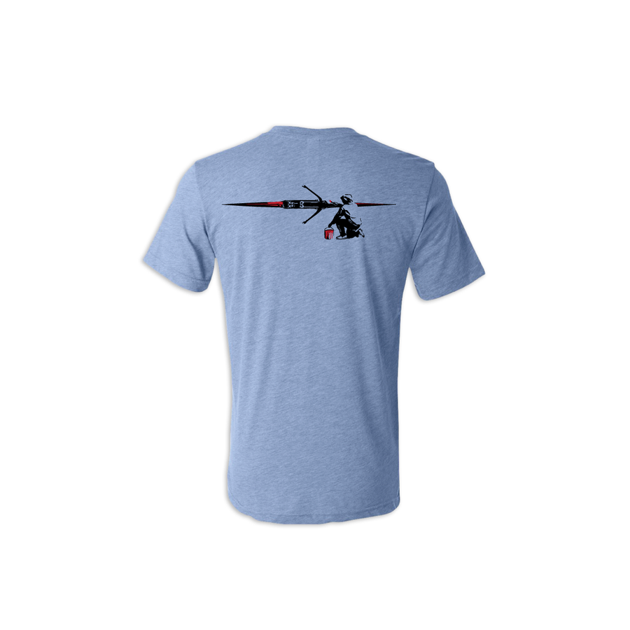 Rowing Is Art unisex triblend tee back - © 2020 Ride Backwards