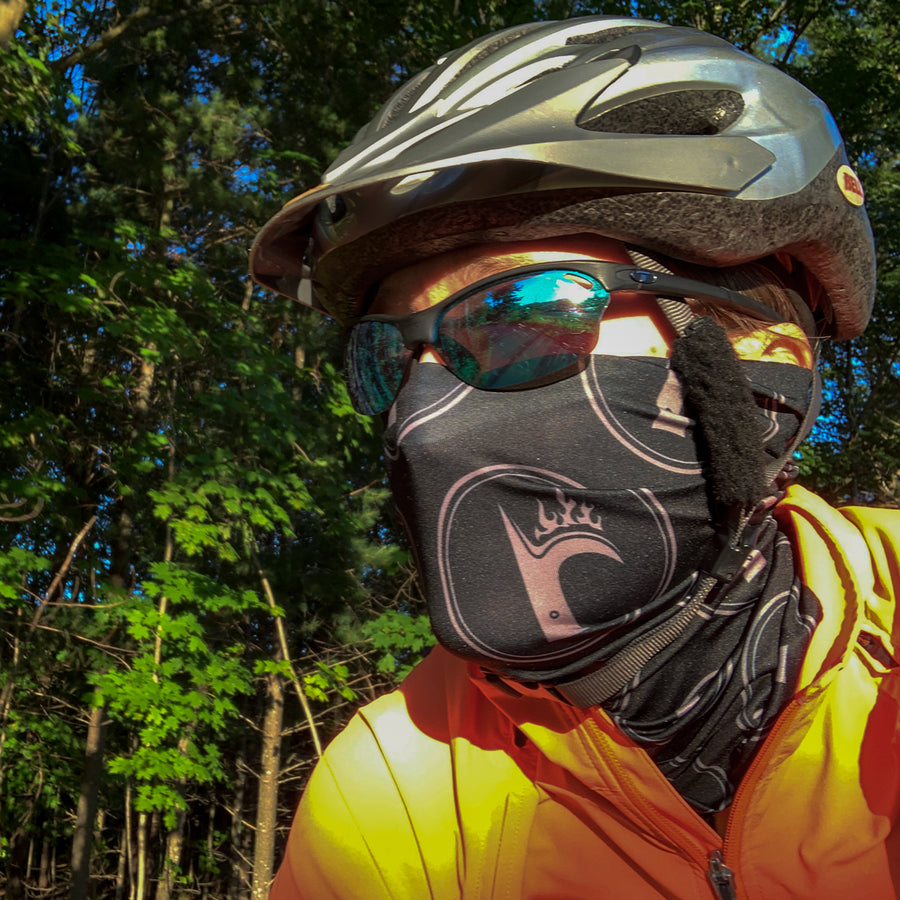 RB Black Ultra Band - neck gaiter, lightweight and moisture-wicking, quick-drying performance fabric at ridebackwards.com