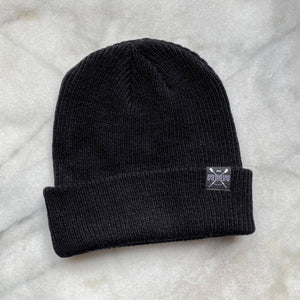 Black Merino Wool Knit Beanie by ridebackwards.com Superior comfort and temperature regulation in odor resistant and UPF 20 protected comfort.