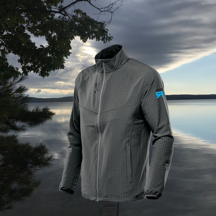 Kyoto jacket, wind resistive, stretch pocketed training jacket with waffle fleece interior, zip side pockets, internal pockets and media port at ridebackwards.com