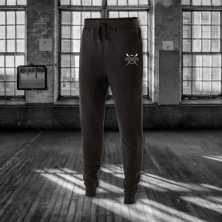 RB Vintage Joggers, 60-40 poly-cotton fleece, side slash and back pocket at ridebackwards.com