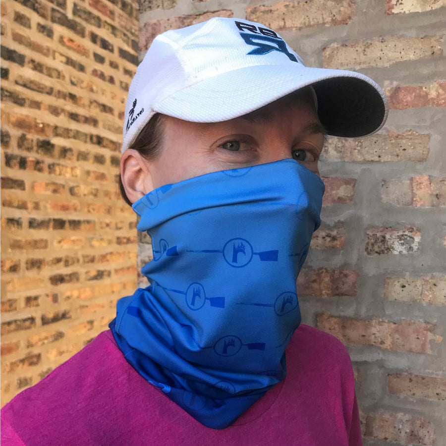RBR Blue ultra band - neck gaiter, lightweight and moisture wicking, quick-drying fabric at ridebackwards.com