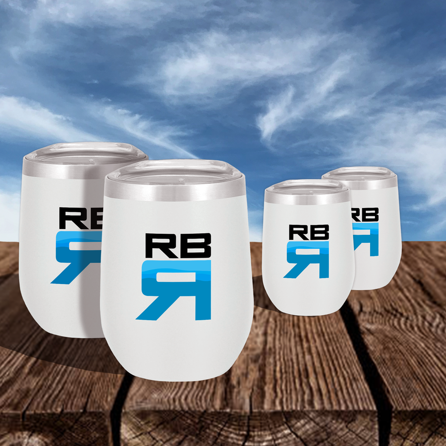 RBR Flow stainless steel wine tumblers 4 pack - ridebackwards.com