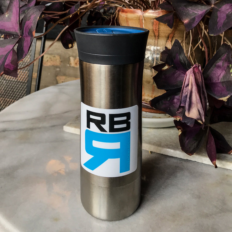 RB Rowing decal on coffee mug