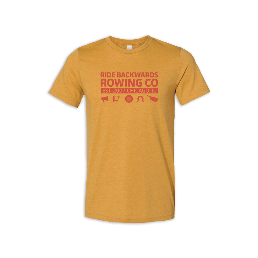 Ride Backwards Rowing Co premium lightweight and moisture-wicking unisex tee at ridebackwards.com