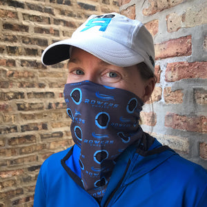 Rowers Choice - Global Virtual Rowing Challenge 2020 Utlra Band neck gaiter. Lightweigh, moisture-wicking and quick drying on model at ridebackwards.com