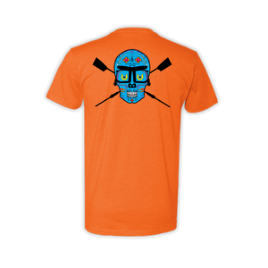 Men's Rower de los Muertos fitted tee orange back