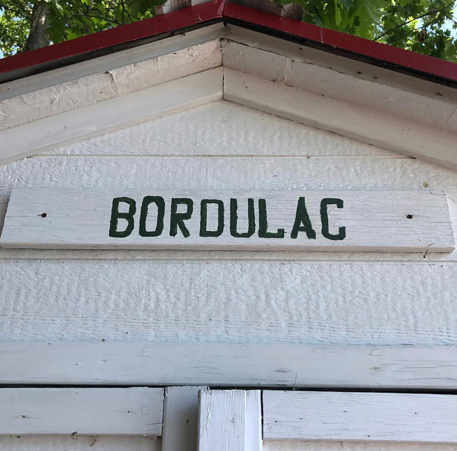 BORDULAC hand painted sign