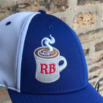 RB Coffee Cool Mesh Cap front embroidery detail - ridebackwards.com