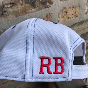 RB Coffee Cool Mesh Cap back left embroidery detail - ridebackwards.com