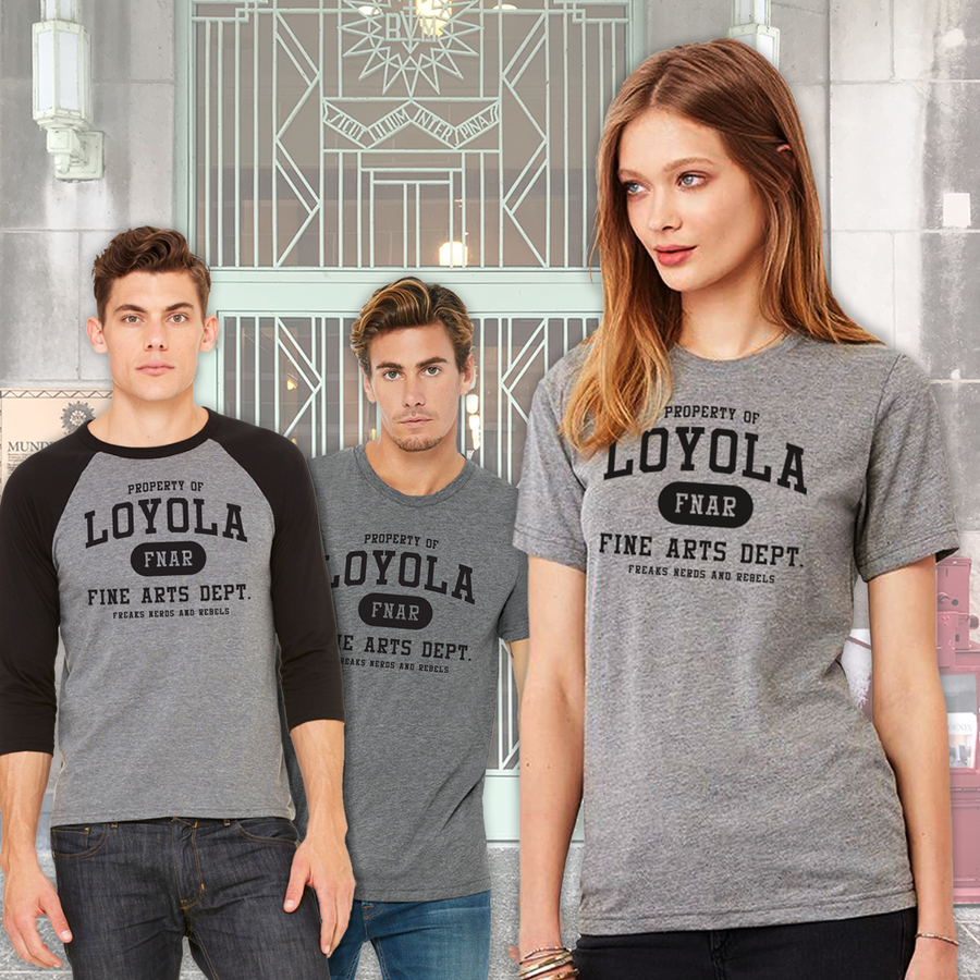 Loyola FNAR tee & jersey - models in triblends - ridebackwards.com