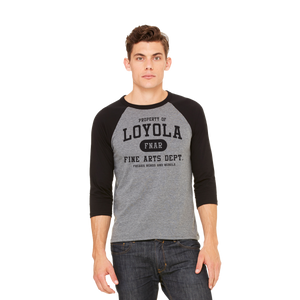 Loyola FNAR triblend jersey on male model