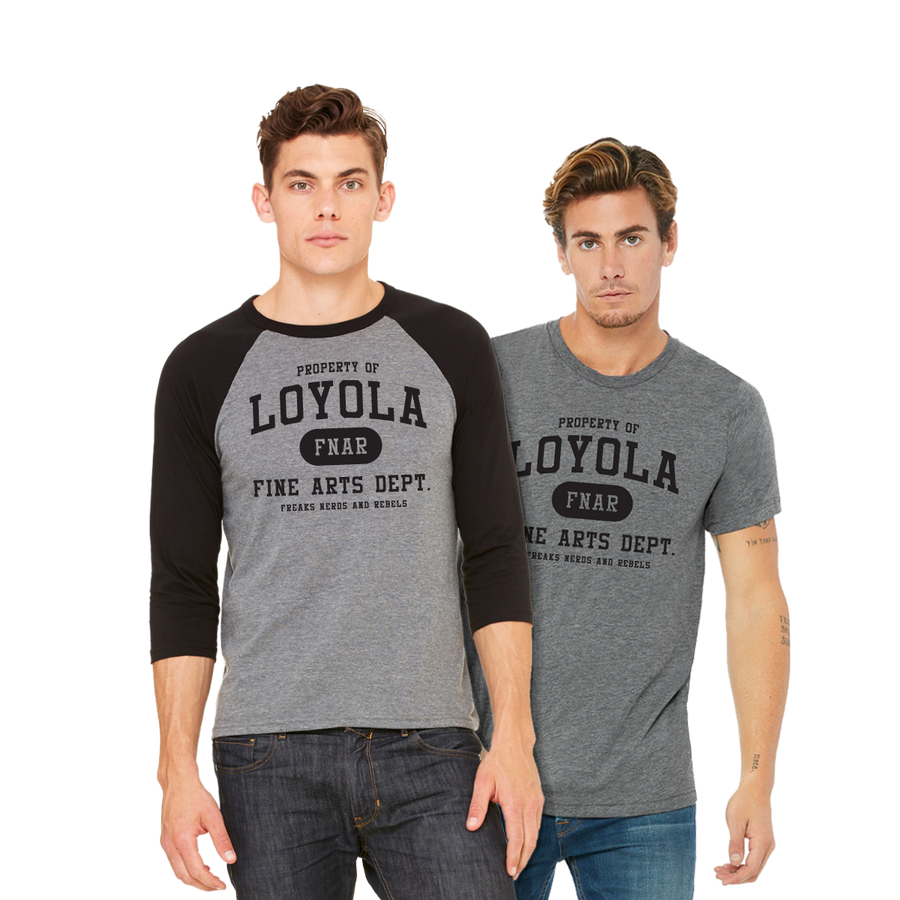Loyola FNAR tee and jersey on model boys