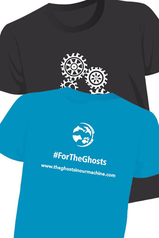 FOR THE GHOSTS cotton tees - black & teal