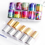 (HOT SALE TODAY)Star Foil Glitters DIY Nail Sticker