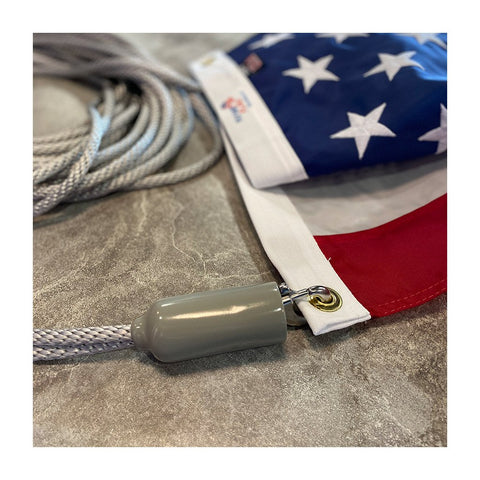 How to add flag clips and vinyl covers to flagpole rope