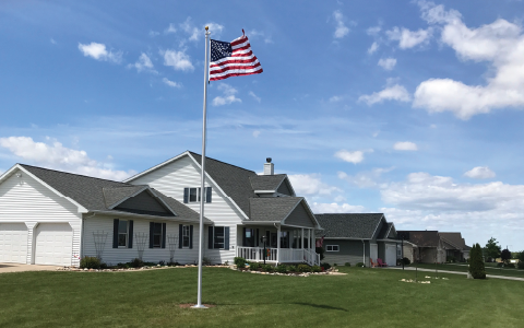 Residential Flagpole Installation by Fly Me Flag
