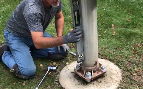 Flagpole Removal and Relocation by Fly Me Flag