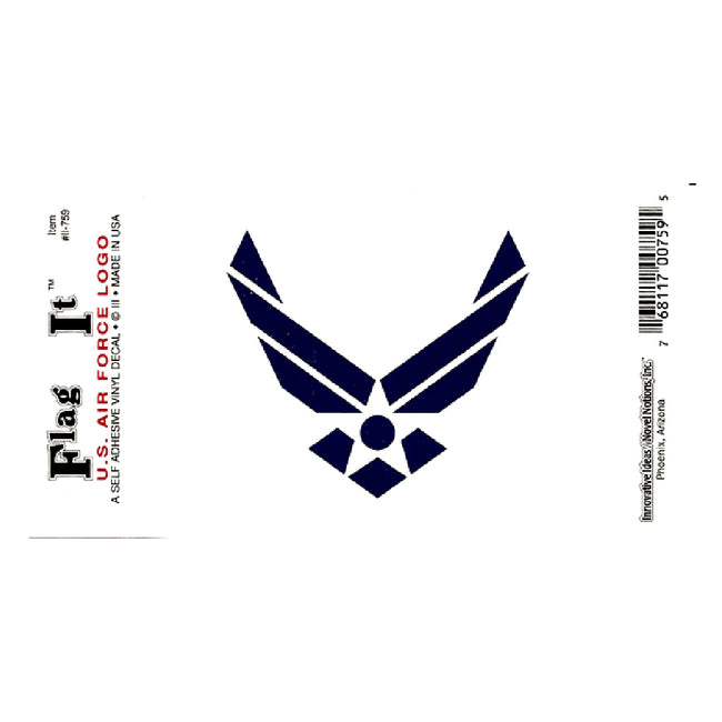 Waterproof peel-and-stick U.S. Air Force Wings flag decal from Fly Me Flag