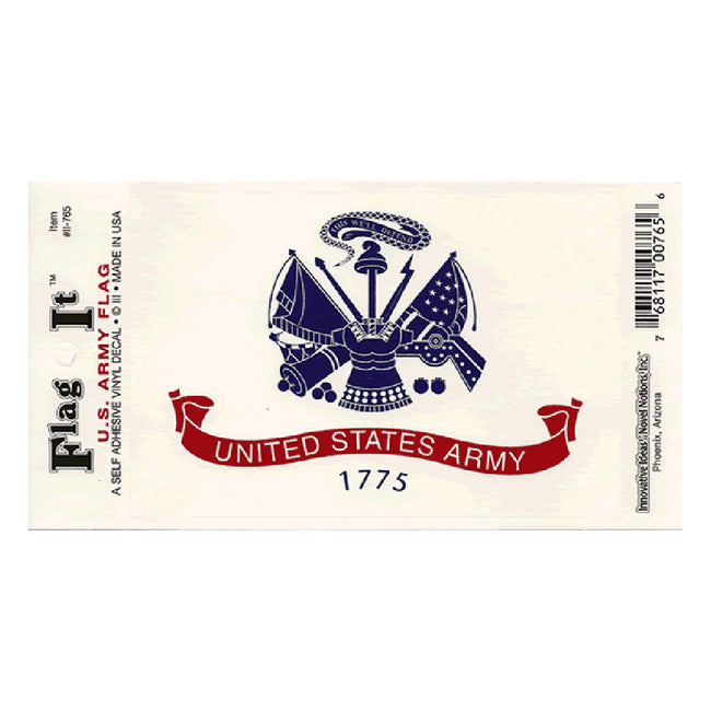 Waterproof peel-and-stick U.S. Army flag decal from Fly Me Flag