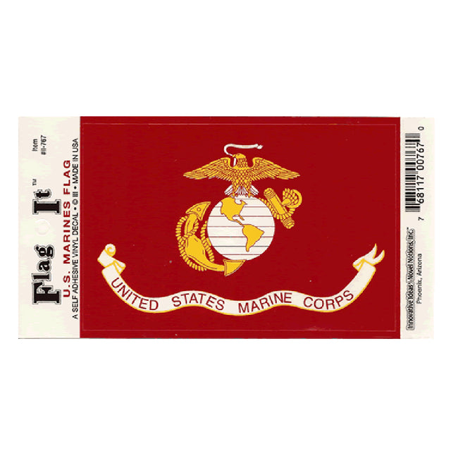 Waterproof peel-and-stick U.S. Marine Corps flag decal from Fly Me Flag