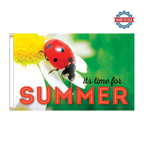 Summer Ladybug 3' x 5' Boutique Flag