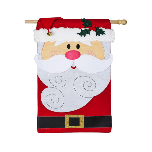 Santa Claus 3D appliqué house banner for Christmas