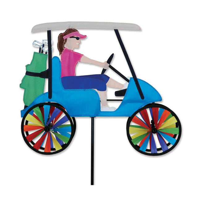 Woman Golf Cart Spinner