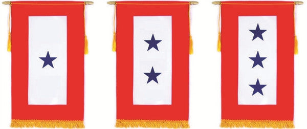 Blue Star Banner for Window