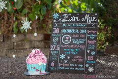 DIY - Printable WinterONEder Land Birthday Chalkboard Sign // Chalkboard Poster