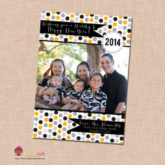 DIY - Printable Confetti New Year Photo Card