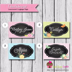 LAMINATED Chalkboard Luggage Tag