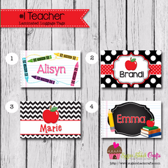 LAMINATED #1 TEACHER Luggage Tag