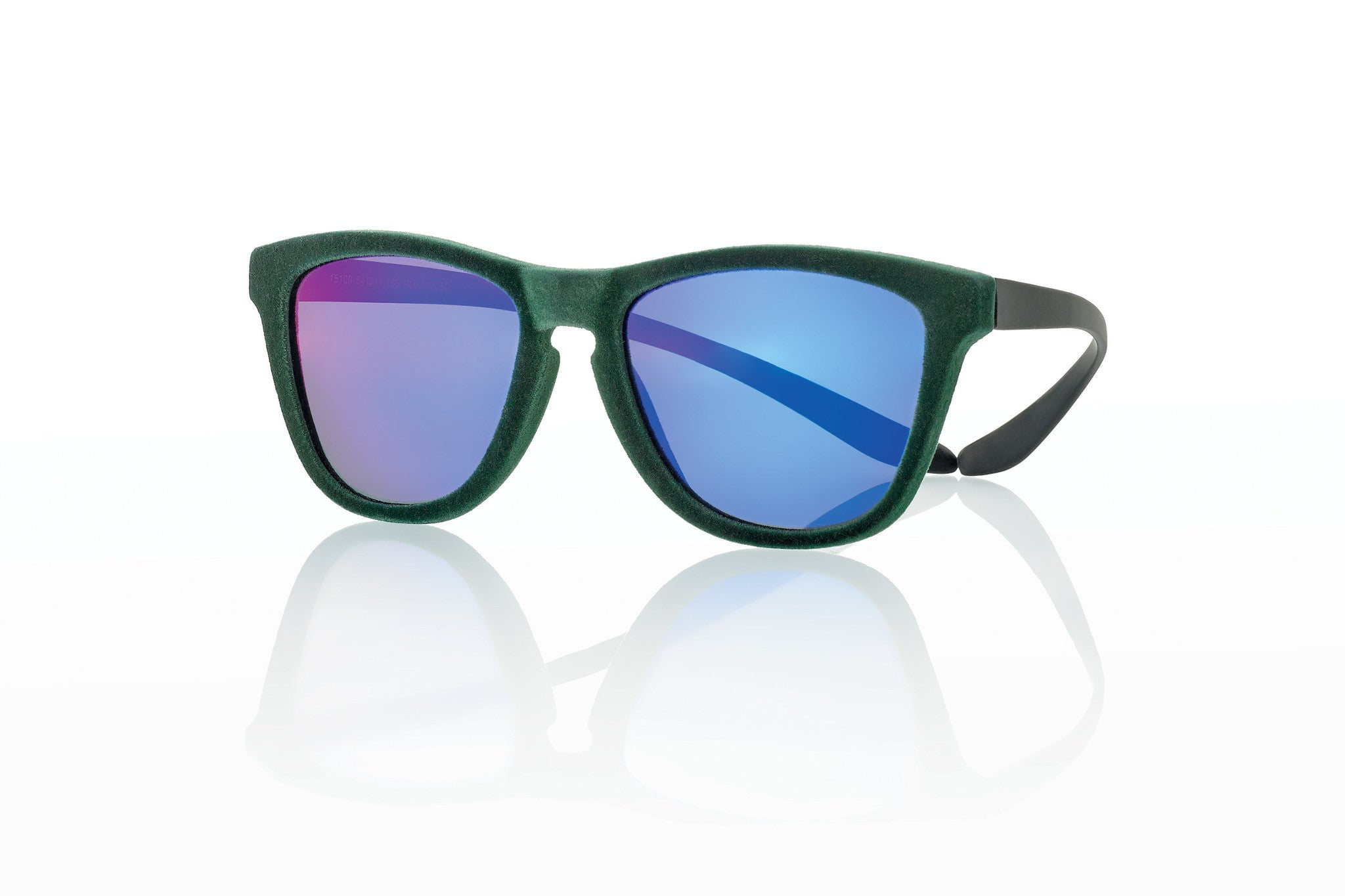 15100 GREEN VELVET/BLK BLUE MIRROR