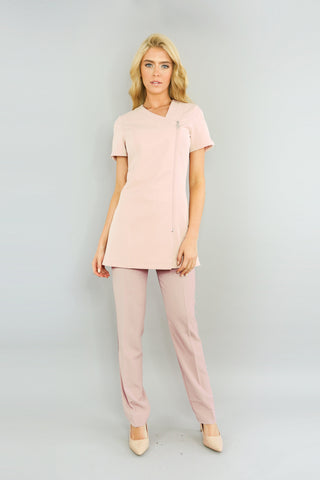 Belle Tunic in Blush Full Beauty Uniform Outfit