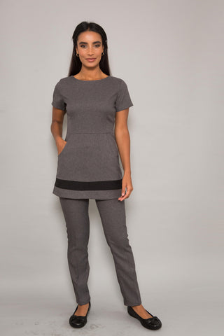 Blossom Tunic in Grey fleck Tailored Fabric